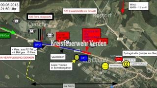 ... und wird auch als Führungsfahrzeug der Kreisfeuerwehrbereitschaft LK Verden eingesetzt.