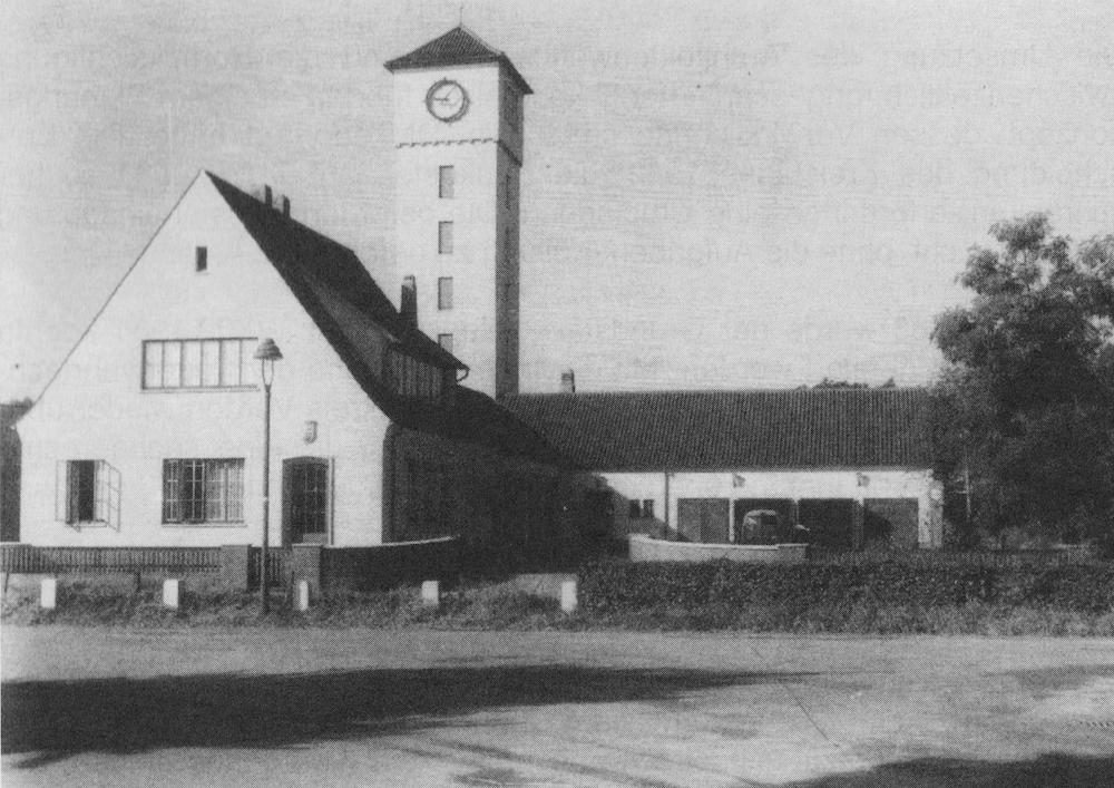 Schlauchpflegerei am Nonnenkamp, eingeweiht am 01. Juli 1953